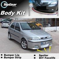 Bumper Lip Deflector Lips For Fiat Palio Front Spoiler Skirt For TopGear Friends to Tuning View / Body Kit / Strip
