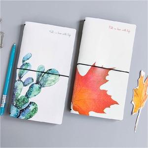 Image 4 - Kawaii Cute Flower Leaf Notebook Stationery Diary Agenda Pocket Notepad Planner Weekly Book Travel School Office Supplies sl2056