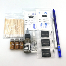 Permanent Makeup Eyebrow Tattoo Kit Microblading Supplies Round Needle Ink Brow Pencil Pen