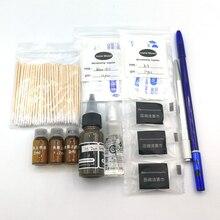 Permanent Makeup Eyebrow Tattoo Kit Microblading Supplies Round Needle Ink Brow Pencil Pen