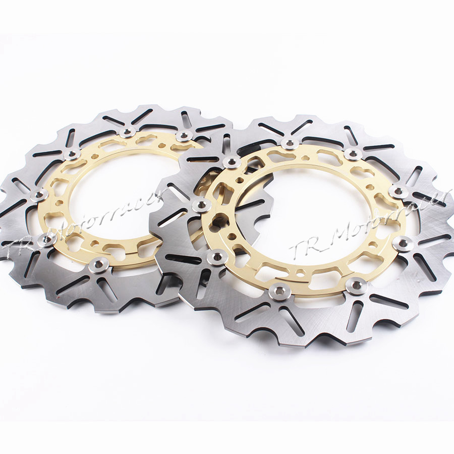 For Yamaha YZF R1 YZF-R6 XJR 1300 FJR 1300 FZS1000/FZ1 FAZER Motorcycle Accessories Front Brake Disc Rotor Gold motorcycle scooters racer rearview side view mirror for yamaha fjr1200 fzr250 fzr400 fjr xjr 1300 yzf600r yzf r125 r6 r3 mt 03