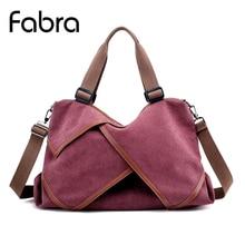 hot deal buy fabra canvas women handbag casual totes large capacity travel hobos crossbody bag female bolsas solid shoulder messenger bag