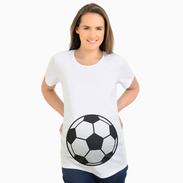 9235be4943a2c New 2018 3D Football print Pregnancy T Shirts Maternity clothes for  pregnant women Funny Maternity Tshirts Summer T Shirt Women