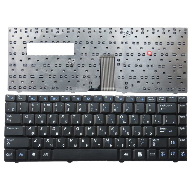 RU For Samsung R519 NP R519 Laptop Keyboard Russian New Black-in Replacement Keyboards from Computer & Office on