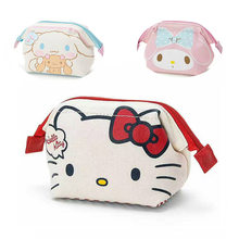 Mini Cute Hello Kitty Cosmetic Bags Girl's Travel Makeup Tools Organizer Case Wash Suitcase rabbit women bags(China)