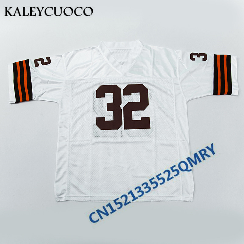 online retailer dd328 8becd Retro star #19 Bernie Kosar #32 Jim Brown Jerseys ...