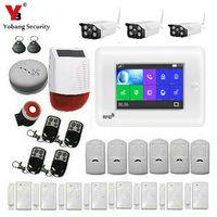 Yobang безопасности Сенсорный экран Беспроводной RFID GSM охранная Сенсор охранных WI FI сигнализации Системы приложение Управление видео IP Камера