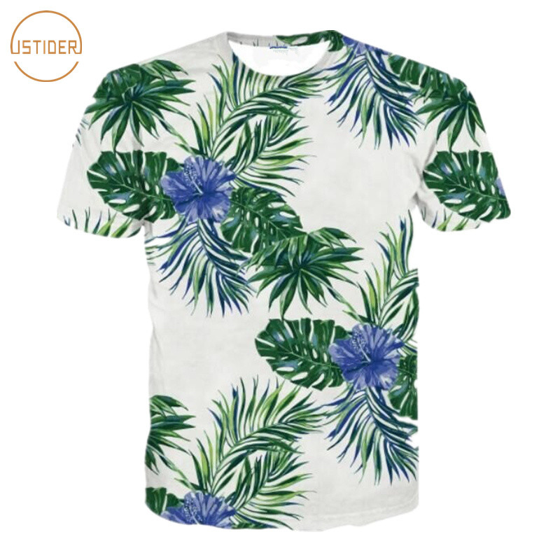 Transser Womens Flower Printed T-shirt Crew Neck Short Sleeve Tops Summer Casual Tee Shirt Blouse