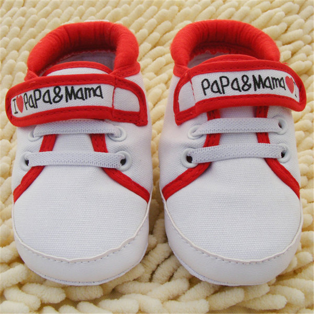0-18M Baby Infant Kids Boy Girls Soft Sole Canvas Sneaker Toddler Newborn Shoes New 4