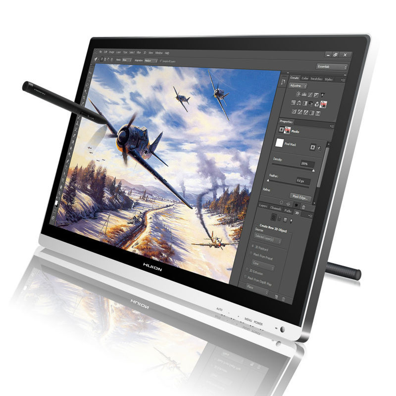 "Huion GT-220 <font><b>22</b></font>"" Drawing Monitor Touch Screen Monitor Interactive Pen Display HD IPS LCD Monitor Brand New 2015 Silver"