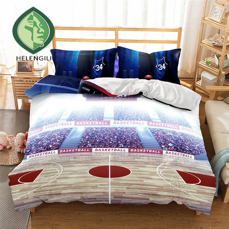 HELENGILI 3D Bedding Set Basketball Print Duvet cover set lifelike bedclothes with pillowcase bed set home Textiles #2-04HELENGILI 3D Bedding Set Basketball Print Duvet cover set lifelike bedclothes with pillowcase bed set home Textiles #2-04