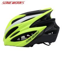 Capacete de bicicleta ultraleve, 23 aberturas, capacetes de ciclismo mtb e de estrada, unissex, sw0011