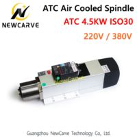 4.5KW ATC Spindle Air Cooled Spindle motor ISO30 220V 380V Automatic Tool Changer for Woodworking CNC Auto Changer Router