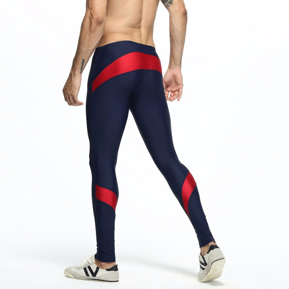 TAUWELL Men's Stretch Workout Tights Trousers Fitness Long Pants Compression Legging Shapewear GYM Slim Nylon Pantalones Hombre