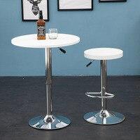 Multifunction Restaurant Living room Stylish fashion simplicity Height Adjustable Bar Round Table bar Furniture