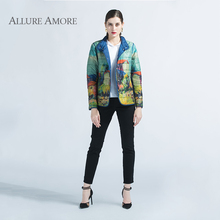 AllureAmore Spring Women Jacket Windproof Coats Double Face Outwear Solid And Print Fashion Coat New Collection Designer