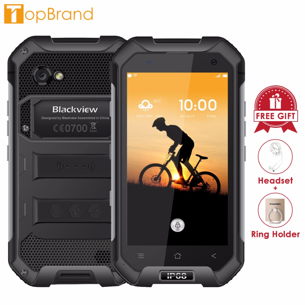 Blackview BV6000 Android 7.0 Smartphone 4.7 pouce IPS Écran Téléphone 3 gb RAM 32 gb ROM MTK6755 Octa Core 2.0 ghz Dual SIM 4g OTG NFC