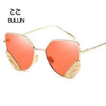 D-BULUN Mirrored gafas de Sol Mujeres Diseñador de la Marca UV400 gafas de Sol Del Ojo de Gato gafas Mujeres Gafas de Lentes de Espejo Gafas De Sol Mujer Caliente venta