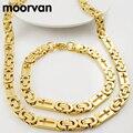 Prata/ouro cor original da forma plana bizantino colar/pulseira (55.5 cm + 22.5 cm) dos homens link chian conjunto jóia da cruz VBD028