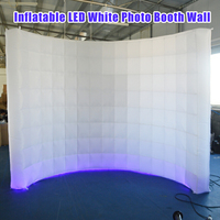3x1.5x2.3m Oxford cloth Party Backdrops Inflatable LED White Photo Booth Background Wall Shooting Tent Party Backdrops