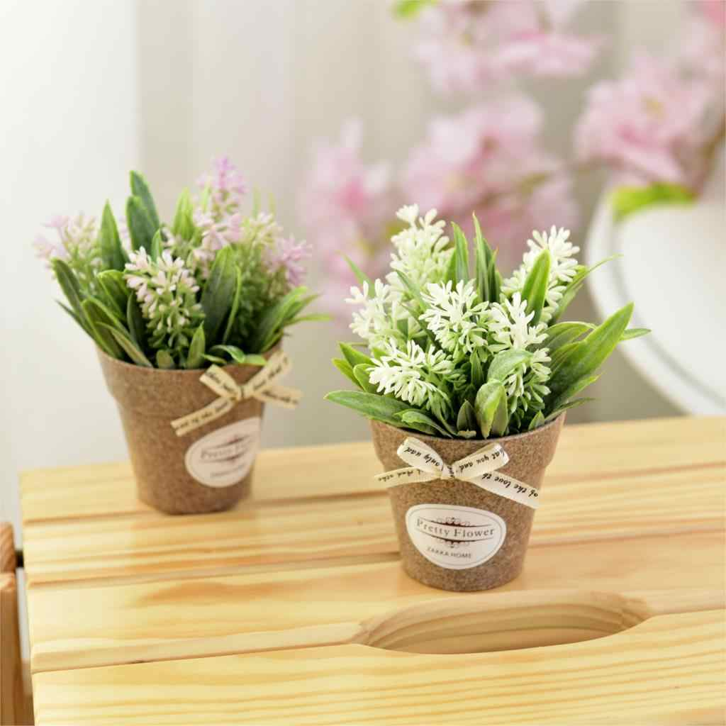 ... Fake Flowers Grass with Plastic Pot Bonsai Artificial Potted Flowers for Rustic Wedding Party Garden Farmhouse ... & Detail Feedback Questions about Fake Flowers Grass with Plastic Pot ...