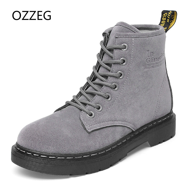 Winter Women Shoes Martin Boots Female Fahsion Motorcycle Ankle Boots Women Warm Botas Mujer Botas Feminina Flat Shoes Women vtota boots women fashion autumn martin boots warm women shoes ankle boots for women winter botas mujer wedges ankle boots d23