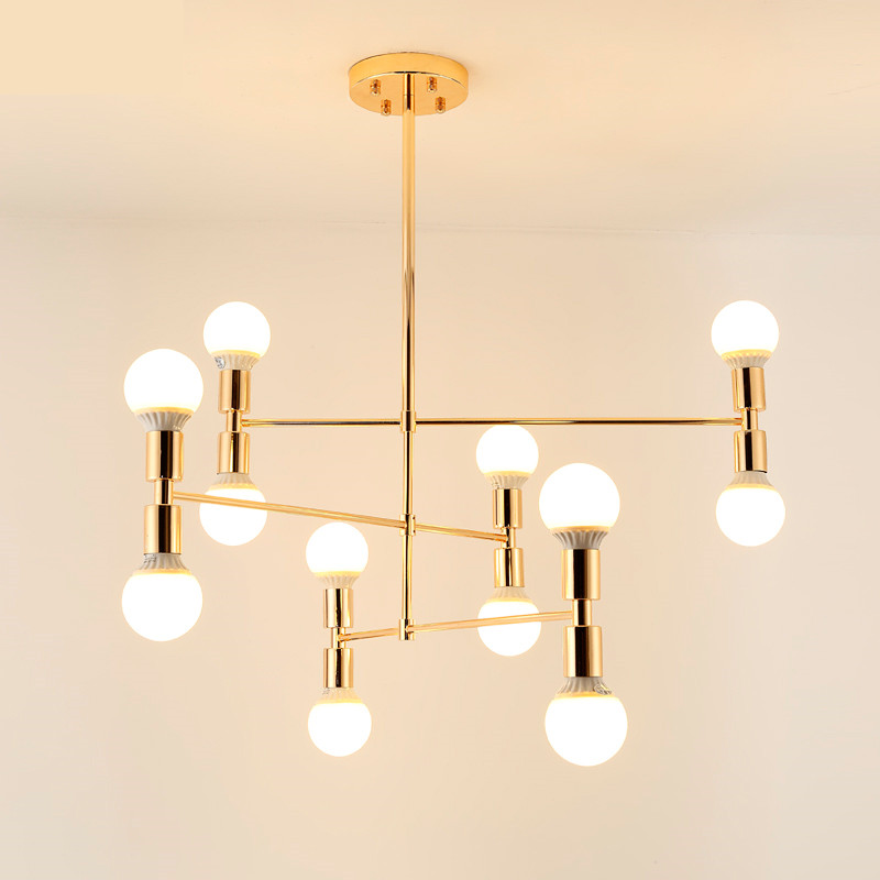 Vintage chandelier LED indoor lamp iron gold metal bar coffee shop modern dining ceiling decoretion lighting fixture AC110-265V essence es 6212me 330 essence