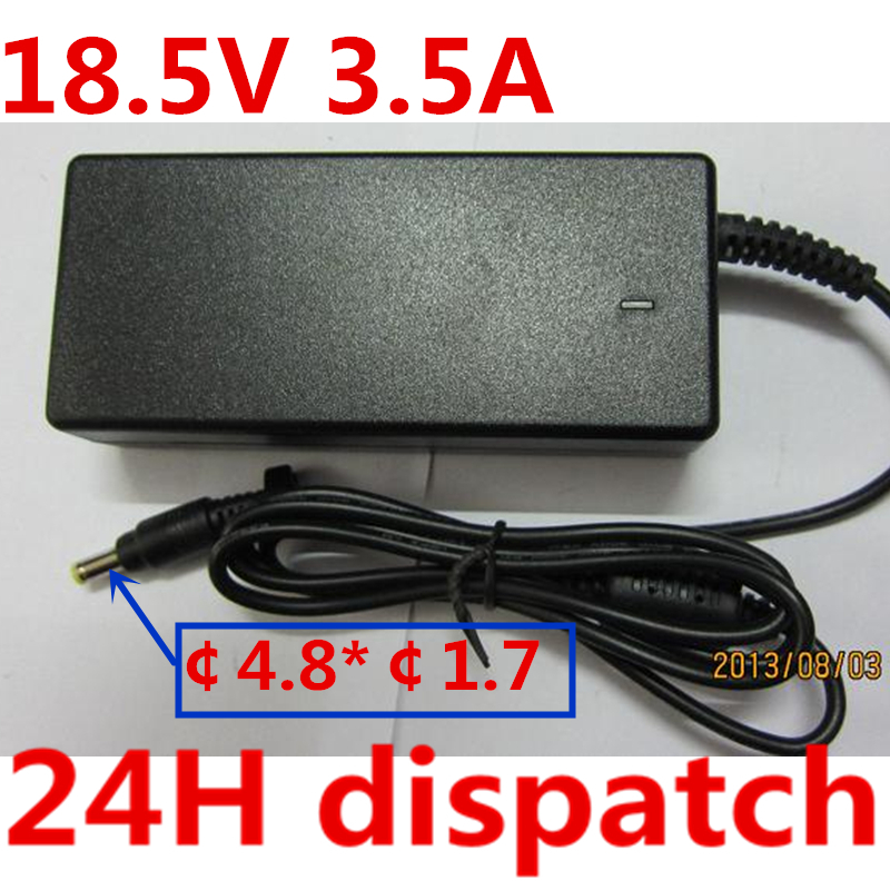HSW  quality Laptop AC Adapter Charger 18.5V 3.5A For HP Pavilion tc1000 DV1000 DV2000 X1300 65W laptop POWER Supply