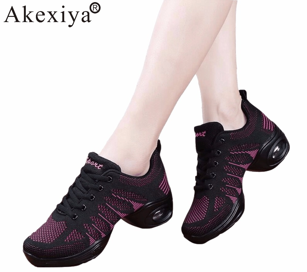 Akexiya Discount Sale Women Ballroom Dance Shoes Female Dance Sneakers Ladies Hip Hop Jazz Ballet Shoes Children Girls Dancing