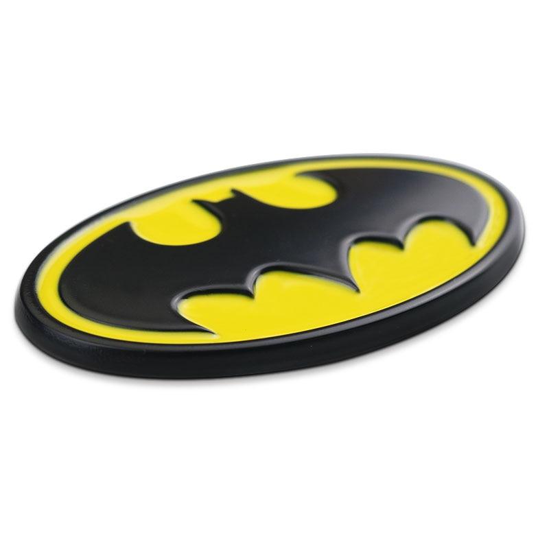 Yellow Metal Batman Logo Dark Knight Mask Car Trunk Emblem Badge Decal Sticker