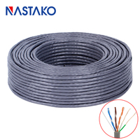 NASTAKO 5M 100M CAT6 Network Cable Gigabit Cat 6 RJ45 Networking Ethernet Cable Copper Twisted Pair