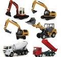 Free shipping HUAYI high quality alloy Engineering Vehicle model children toy cars- dumper truck 1:60 in bulk similar as siku