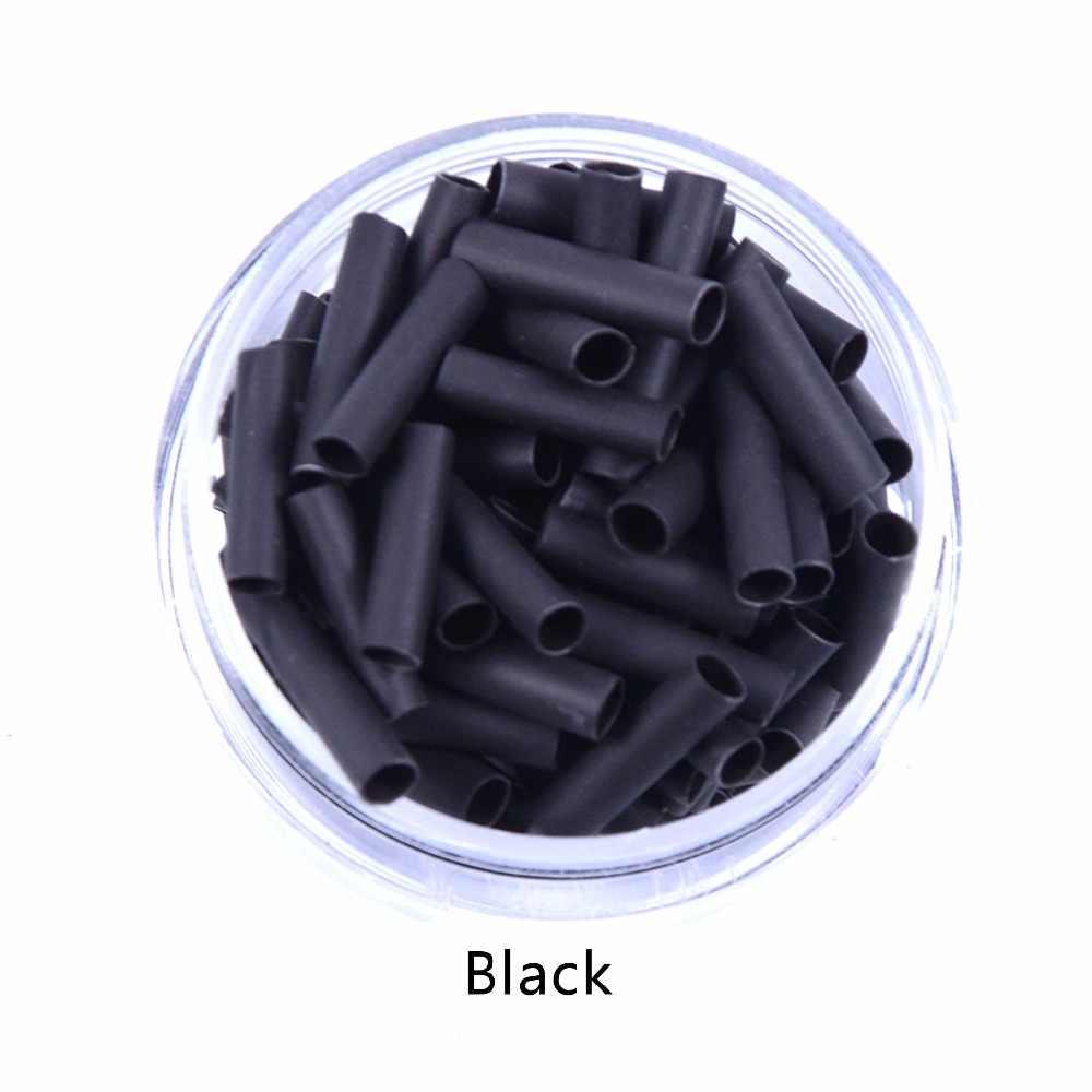 500 шт. 10 мм shrinkies трубки волос инструменты прозрачный цвет