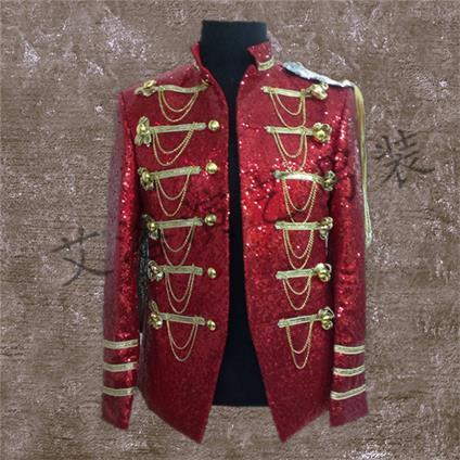 Veste 1 2 Long De Le Costumes Chanteur Performance Costume Nouveau Avec Bar Hommes Hôte qO1nFxP