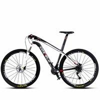 Fibra de carbono mountain bike MTB bicicleta mountain bike super leve de fibra de carbono velocidade masculino óleo de freio 27/30 velocidade 26/29 polegadas