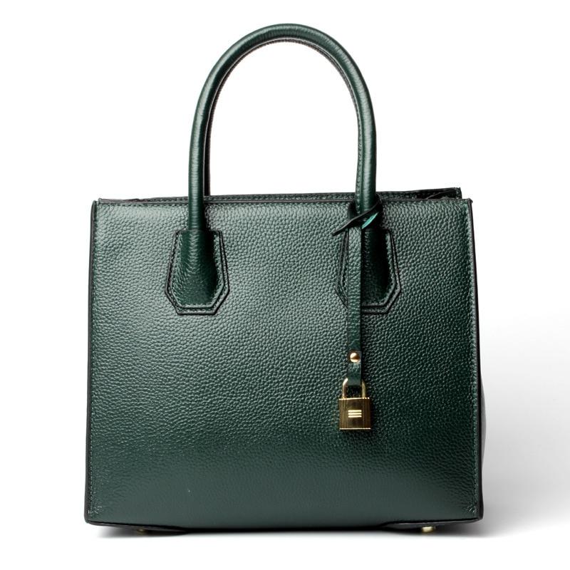 Fashion Women's Genuine Leather Handbags Ladies Real Leather Brief Tote Shoulder Bags Ladies Cowhide Shoulder Crossbody Purse