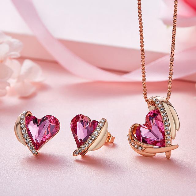 Angel Swarovski Crystal Jewelry Set