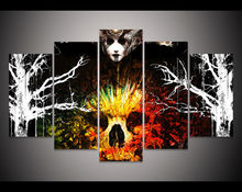 Print skull witchcraft woman Painting Halloween wall decor Living Room Decor Picture print Halloween Canvas Painting art /PT0501