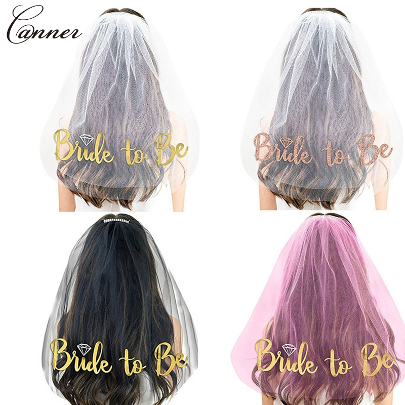 Gold Bride To Be Bridal Veils Wedding Veil For Bridal Shower Hen Night Party Decorations Bachelorette Party Supplies Q40