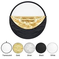 Just Now 110cm 5in1 Collapsible Multi Disc Photograph Round Light Reflector with Bag for Studio/any Photography Situation