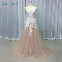 Fashion Style Bohemia 2017 Backless A Line Sexy Summer Beach Wedding Dresses Beaded Flower Wedding Gowns