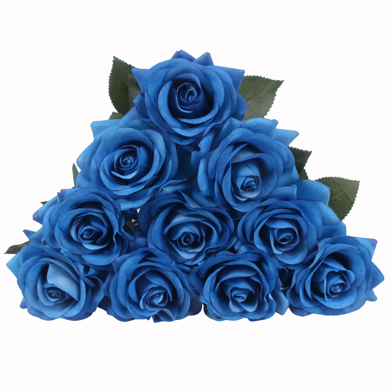 JAROWN Artificial Real Touch Hand Feel Rose Flowers For Valentine`s Day Preparation Wedding Decoration Home Decor (12)