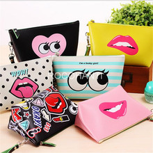 Hot Selling Creative Kawaii Cosmetic Bag for Girl Fashion PU Lash Large Capacity Waterproof Storage Bag Clutch New Style