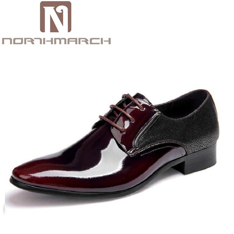 Northmarch Flats De Para Dos Negócios Hombre Oxford Derby Patente Preto Couro Vestido Sapatos Sapatas Zapatos Preto marrom Escritório Homens Novo 2018 rIqF4rO