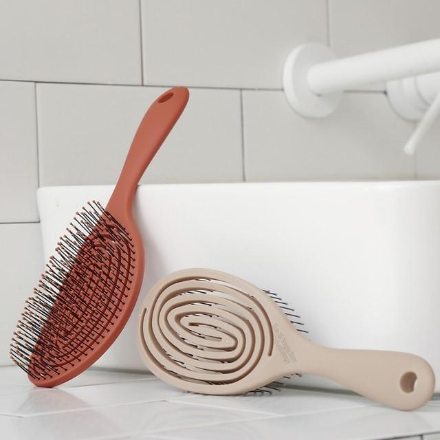 Youpin xinzhi pente elástico de massagem, escova de cabelo portátil para relaxar, escova mágica para cabeça