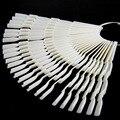 Projeto de bambu 50 unidades/pacote 150 Forma de Leque Cor 13x1 cm Nail Art Tips Completa Pontas Das Unhas Naturais/Pontas do Dedo Da Arte Do Prego transparente