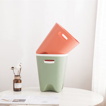 Plastic Household Desk Waste Bin Creative Garbage Basket Without Cover Home Trash Can Bathroom Kitchen Waste Basket Tool(China)