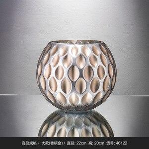 Стеклянная ваза в богемном стиле, Декор для дома, сухой цветок, украшение для гостиной, ваза floreros jarrones decorativos, современный стиль