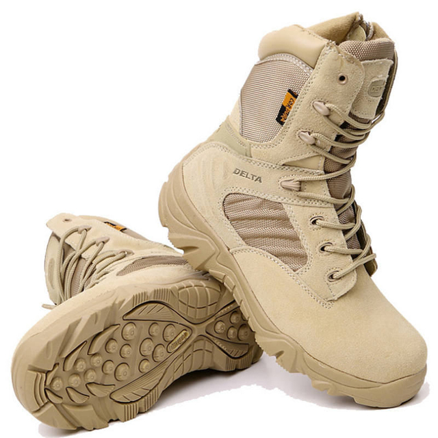 Erkek Delta askeri taktik botları Yüksek Kalite Su Geçirmez Kaymaz Açık seyahat ayakkabısı Siyah Sneakers Erkekler için yürüyüş ayakkabıları
