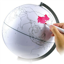 Hand-painted globe hand-painted world map can be painted erasable creative DIY edition teaching aids office furnishings